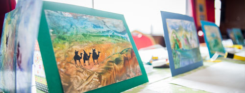 Viaszkép festés a budapesti Minimax Gyerekhajón